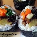 vegan kimbap recipe by Deborrah Cooper of BlacksGoingVegan.Com