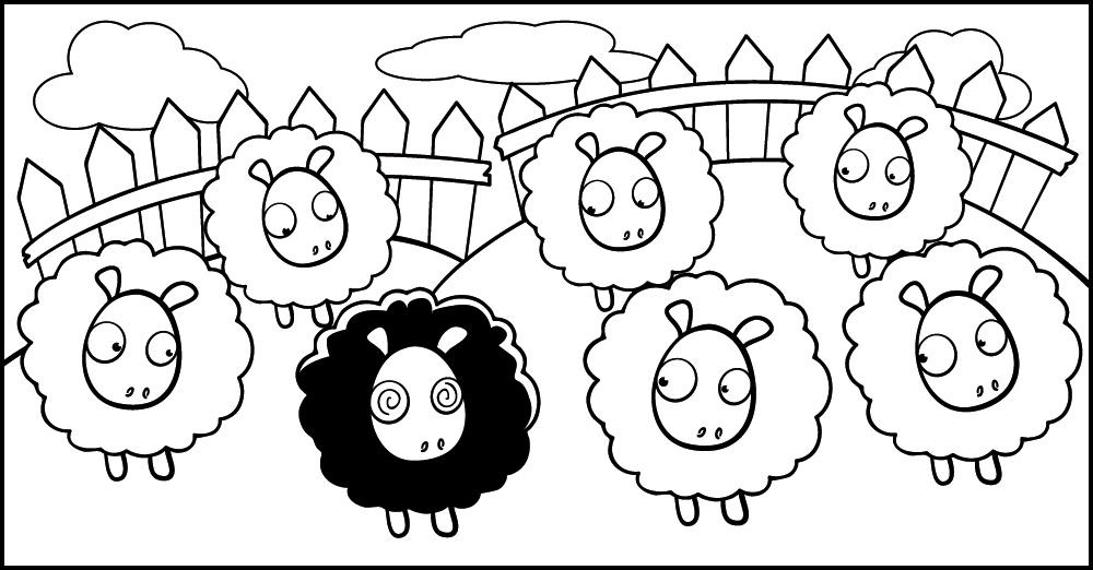 Pecora nera in mezzo a pecore bianche