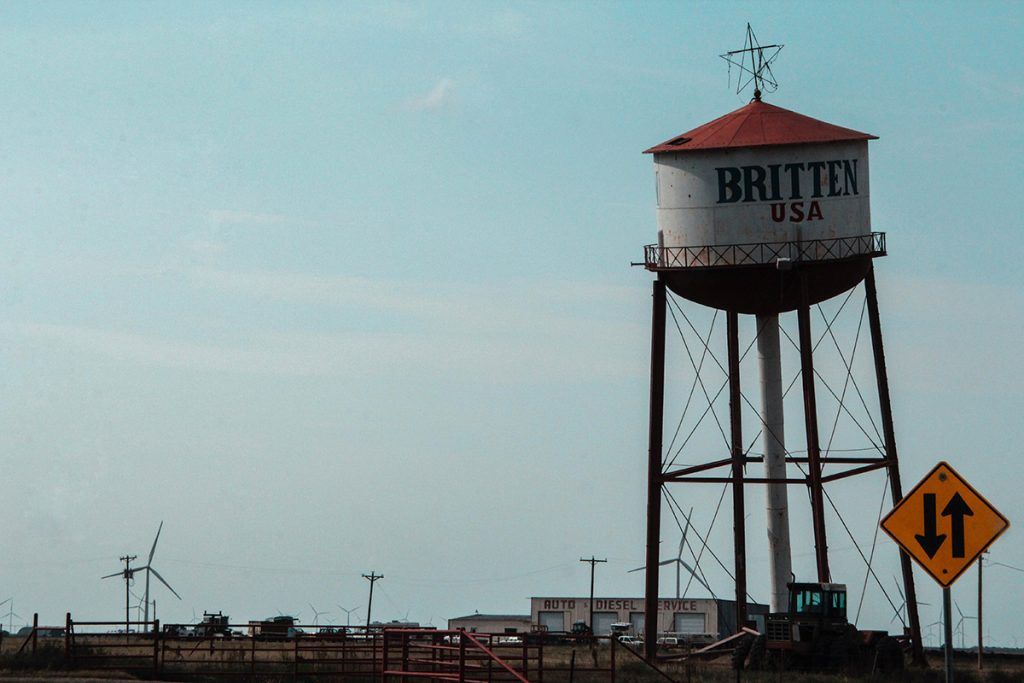Britten Leaning Water Tower a Groom, in Texas