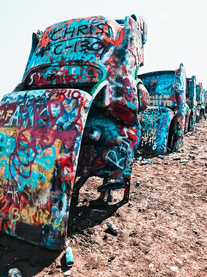 The Cadillac Ranch in Amarillo, Texas