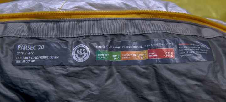 Thermarest Parsec Sleeping Bag