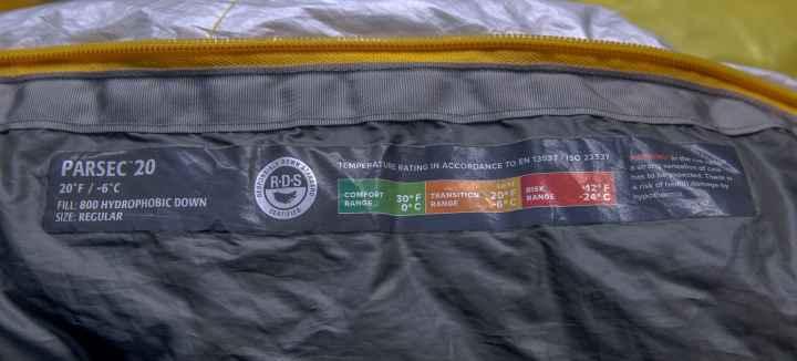 Thermarest Parsec Sleeping Bag