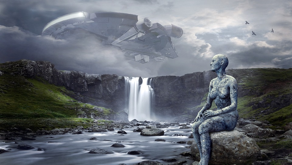 how to create realistic characters - https://pixabay.com/en/spaceship-ufo-landscape-waterfall-2285527/
