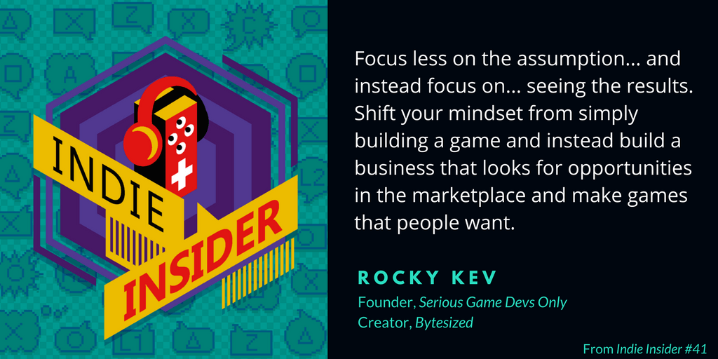 Indie Insider #41 – Rocky Kev, Serious Game Devs Only