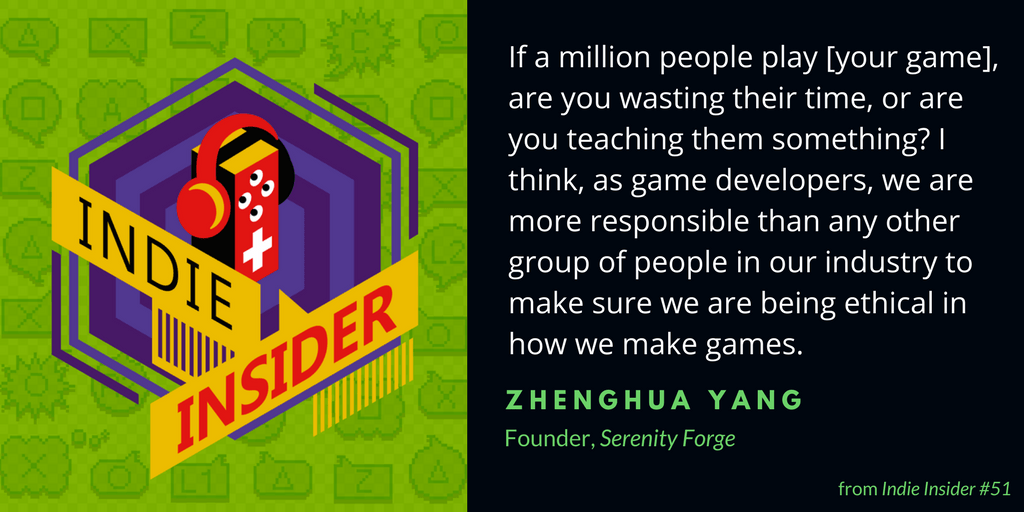 Indie Insider #51 – Zhenghua Yang, Founder of Serenity Forge