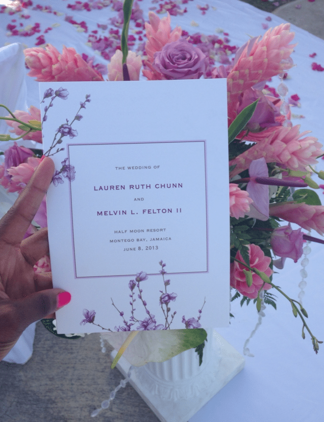 Wedding-Program Southern Love in Montego Bay