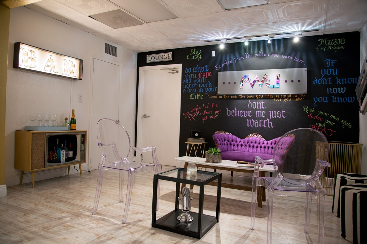 Miami Offices with a mix of Modern, Southern and Music 10