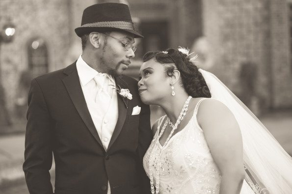 Tish-Jahmaal-845-Edit-595x397 Tishre and Jahmaal's 1920's Art Deco themed Wedding