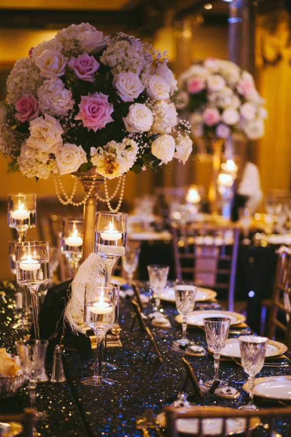 Tish-Jahmaal-975-595x893 Tishre and Jahmaal's 1920's Art Deco themed Wedding