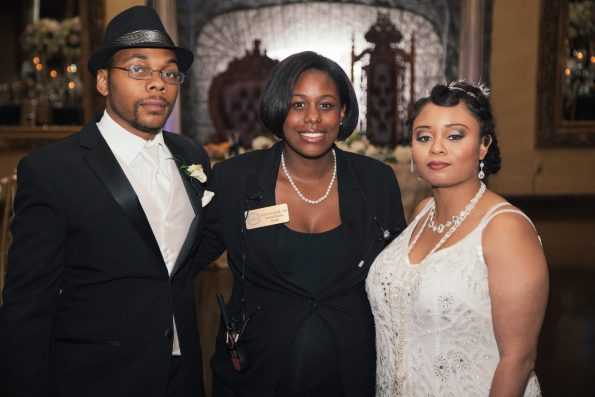 Tish-Jahmaal-992-595x397 Tishre and Jahmaal's 1920's Art Deco themed Wedding