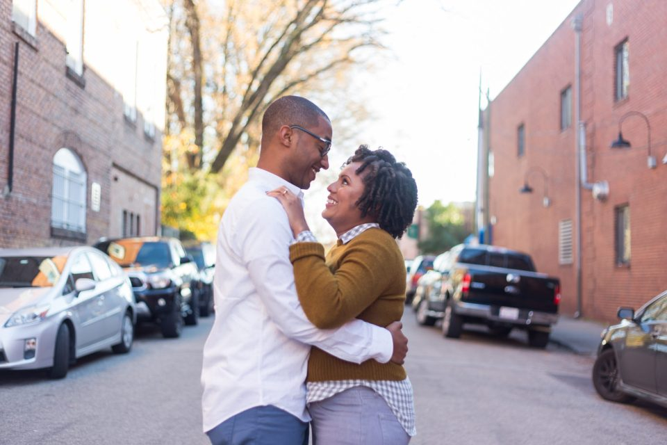 McAllister-and-Cornell-105-960x640 Downtown Raleigh Engagement Session with Vintage Style