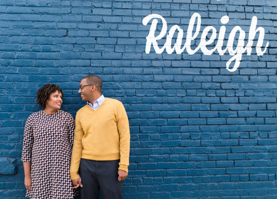 McAllister-and-Cornell-204-960x693 Downtown Raleigh Engagement Session with Vintage Style