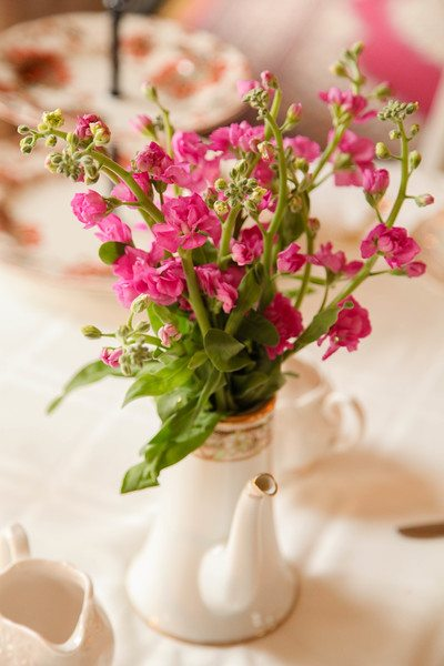 Floral-arrangement Serving Tea and Staying Southern,  Patricia Bradby  of Miss Priss Tea