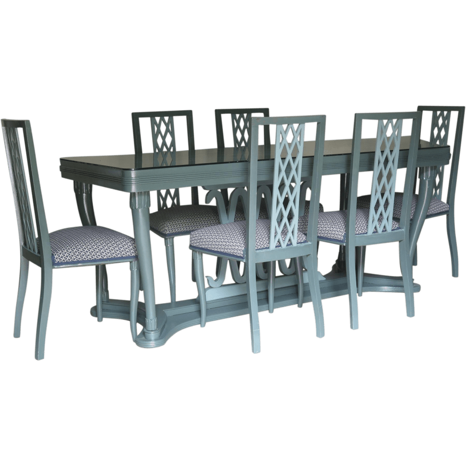 Italian-1940s-Dining-Table-and-Six-Chairs-with-Criss-Cross-Motif-960x960 Southern Designing Tips from Founder/CEO Tom Johnson of RubyLUX