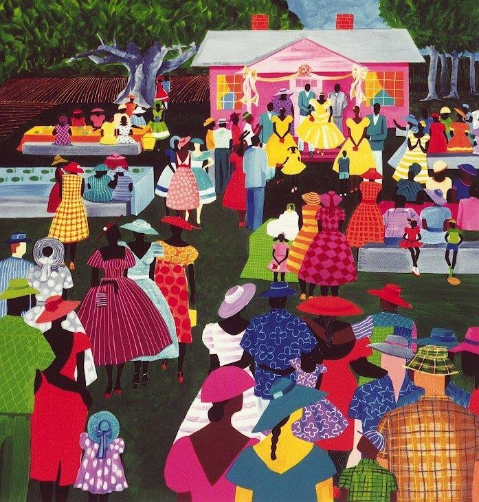 jonathan-green-The-Reception 10 Pieces of Art a Black Southern Belle Should Have in her Home