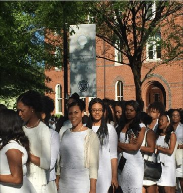 white-dress 10 HBCU Formal Traditions We Love