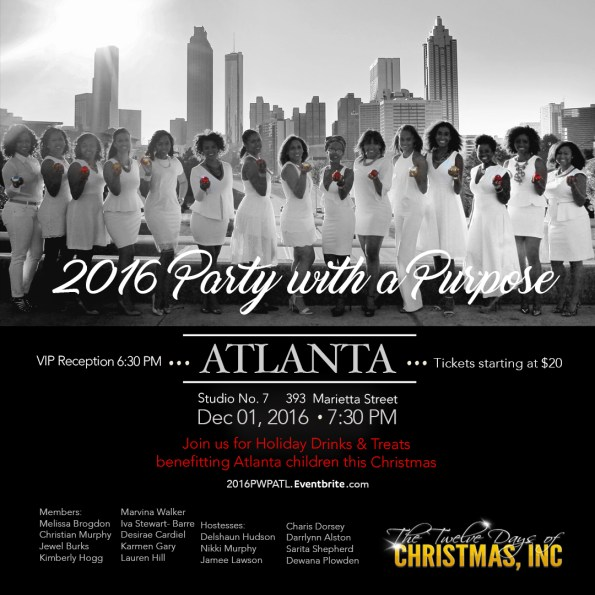 Atlanta Philanthropy with 12 Days of Christmas 1