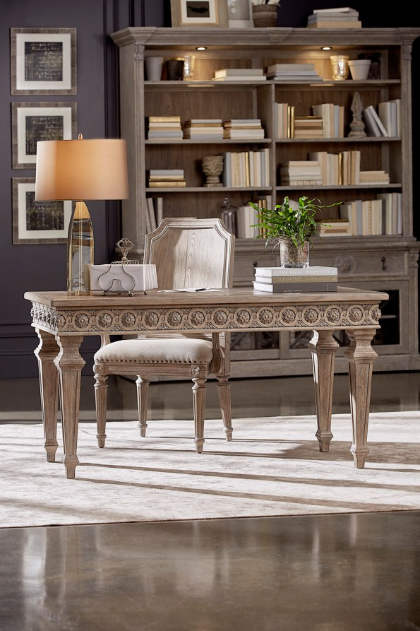 A.R.T.-Furniture-Gabriel-Writing-Desk-and-Mills-Arm-Chair-1-595x893 6 Office Inspiration Looks for a Black Southern Belle