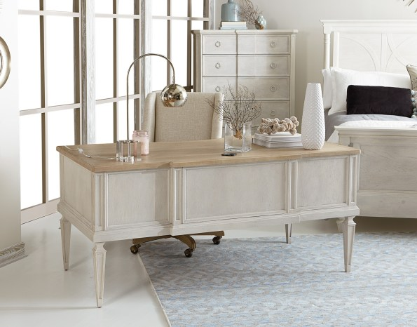 A.R.T.-Furniture-Nora-Writing-Desk-and-Desk-Chair-595x466 6 Office Inspiration Looks for a Black Southern Belle
