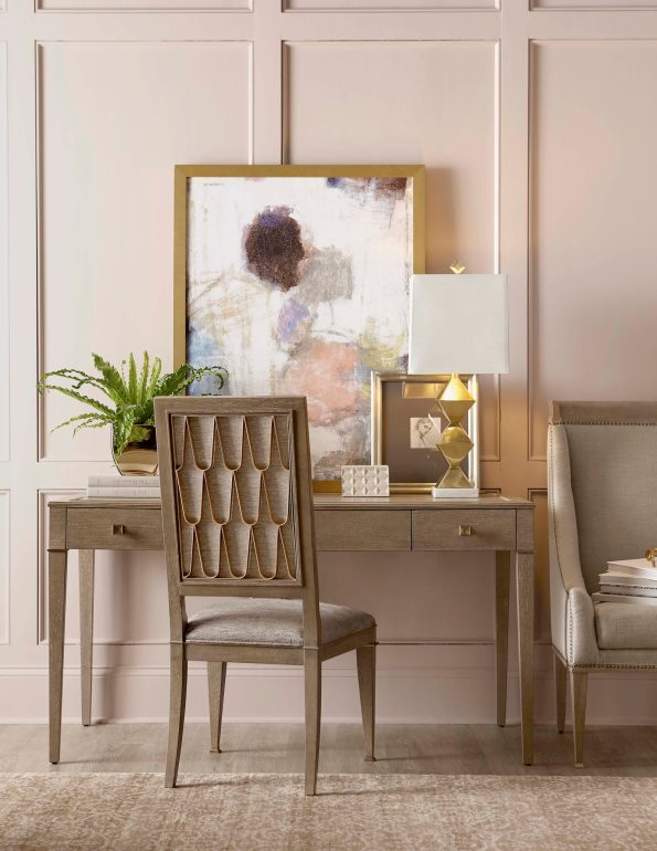 A.R.T.-Furniture-Riverdale-Writing-Desk-and-Bleecker-Side-Chair-595x770 6 Office Inspiration Looks for a Black Southern Belle
