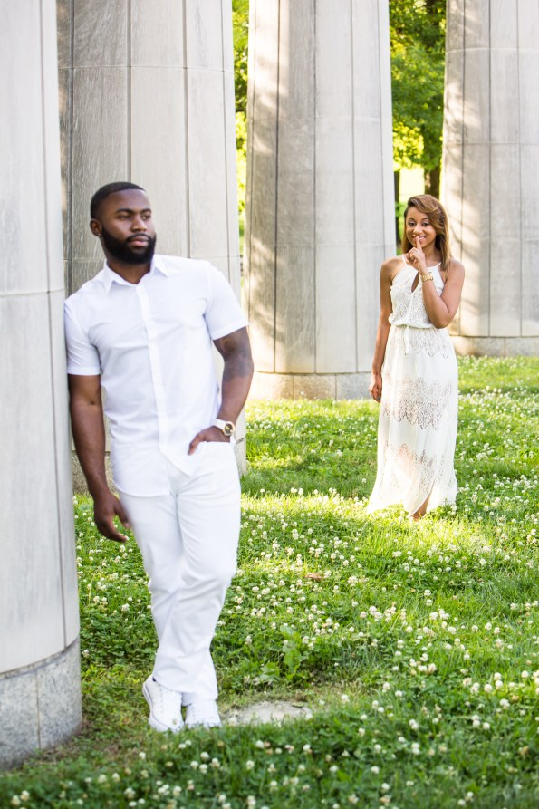 Amber-and-Adrian-Engagement-0010-595x893 Fisk University Love Engagement Session