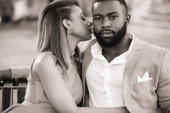 Amber-and-Adrian-Engagement-0055-595x397 Fisk University Love Engagement Session