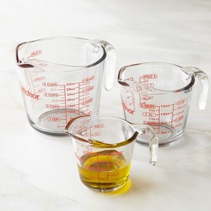 BPR-Anchor-Hocking-Glass-Measuring-Cups 15 Items for a Black Southern Belle Registry