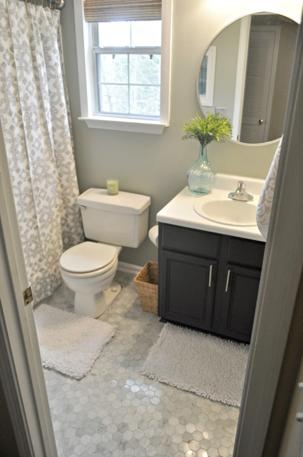 guest-bathroom-upstairs-595x896 Home Tour: Living Pretty on a Penny with Atlanta Lifestyle Blogger
