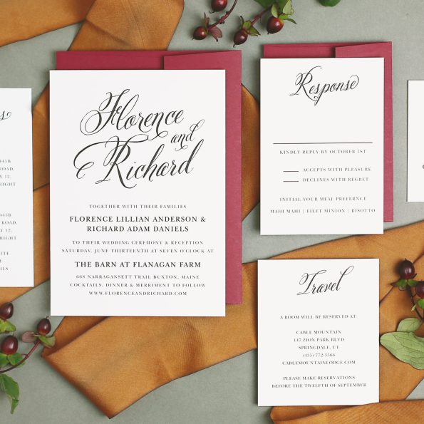 basic_invite_55-595x595 5 Tips for Choosing Your Wedding Stationery Powered by Basic Invite