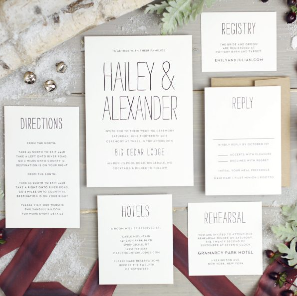 basic_invite_60-595x594 5 Tips for Choosing Your Wedding Stationery Powered by Basic Invite