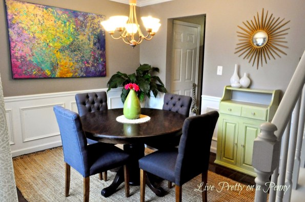 dining-room-art-piece-595x395 Home Tour: Living Pretty on a Penny with Atlanta Lifestyle Blogger