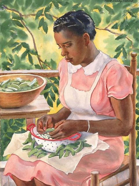 Shelling-Peas-480x640 20 Images of Black Art We Love