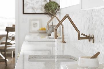 gardenkitchenfaucet Modern Farmhouse Kitchen Inspiration from Kohler