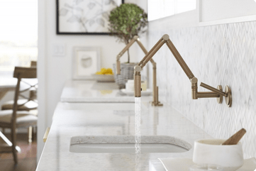 gardenkitchenfaucet Modern Farmhouse Kitchen Inspiration from Kohler