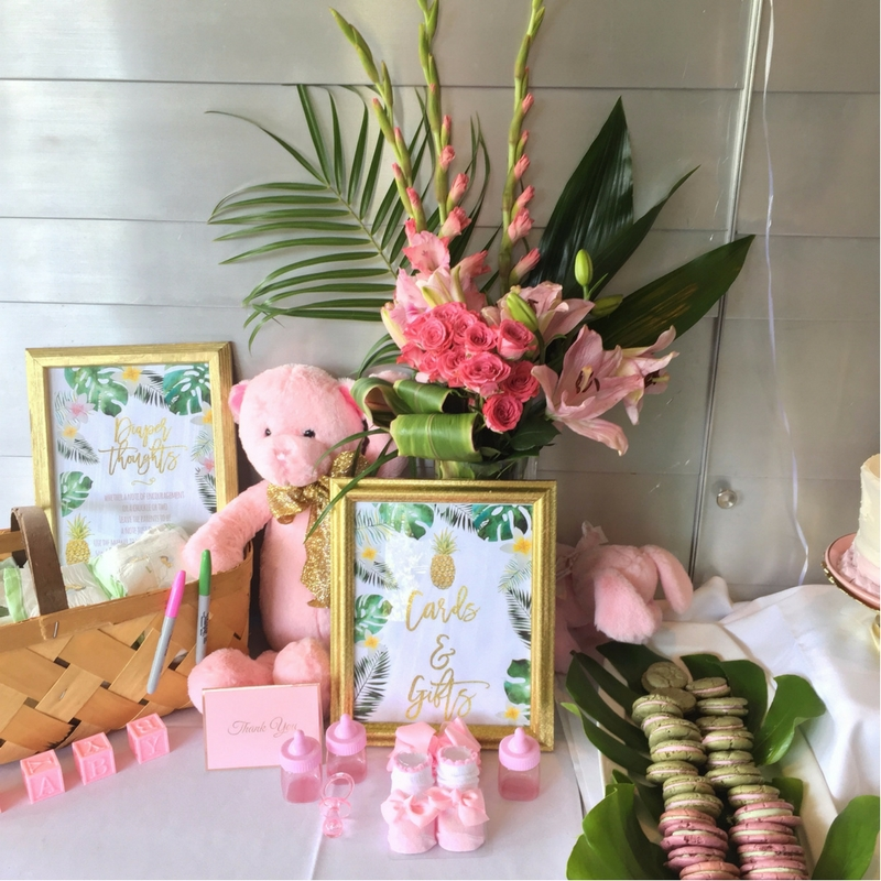 6-2 Tropical Inspired  Baby Shower -  5 Tips for Creating a Coastal ChicA�Inspired Party