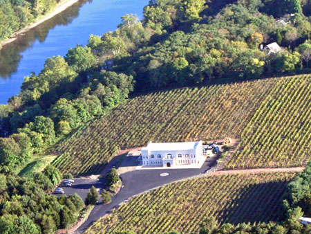 Sand-Castle-Winery-Aerial-View Cozy Fall Bachelorette Party Destinations - Bucks County, PA