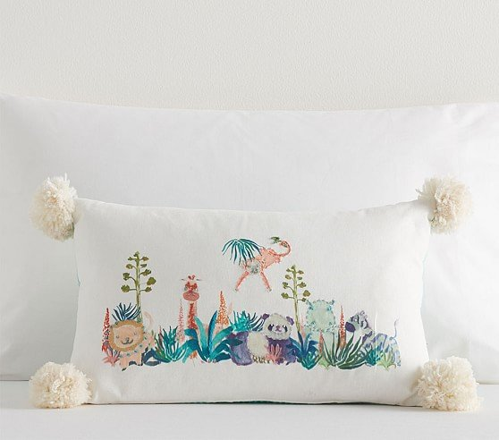 justina-blakeney-geo-animal-embroidered-lumbar-pillow-c Nursery Decor We Love from Justina Blakeney - African American Nursery