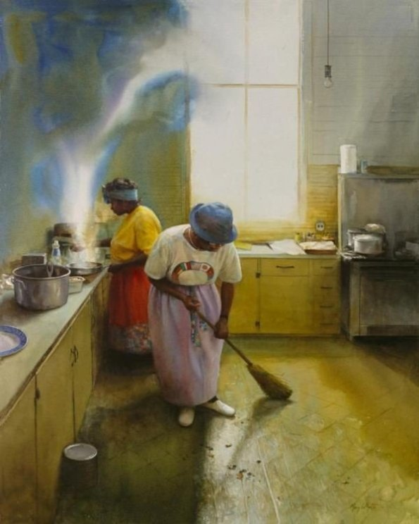 1545432aa2629c302019da8d51cc607e-595x744 16 Images of Black Sisterhood Through Gullah Art