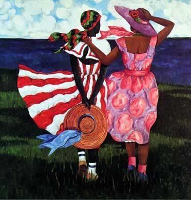 5a2235baab53ef4a58596c5599f8a07b 16 Images of Black Sisterhood Through Gullah Art