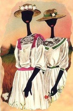 b0719ce5a4fdbbdb45d3e2c544e38e4a 16 Images of Black Sisterhood Through Gullah Art