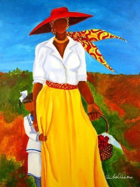 e3e2f760df2ca15ac512e83a0aaa16bd 16 Images of Black Sisterhood Through Gullah Art