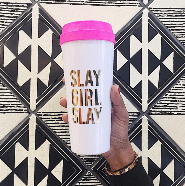 effiespaper-slay-girl-slay-travel-mug-595x597 Black Owned Mother's Day Gifts from Effie's Paper