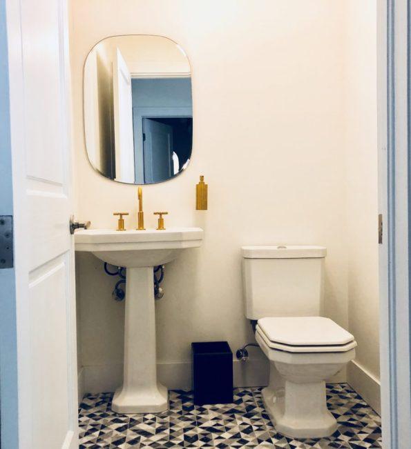 LOBBY-BATHROOMS-1-595x651 Designer Tour: Black-Owned Hotel in Miami - The Copper Door B&B