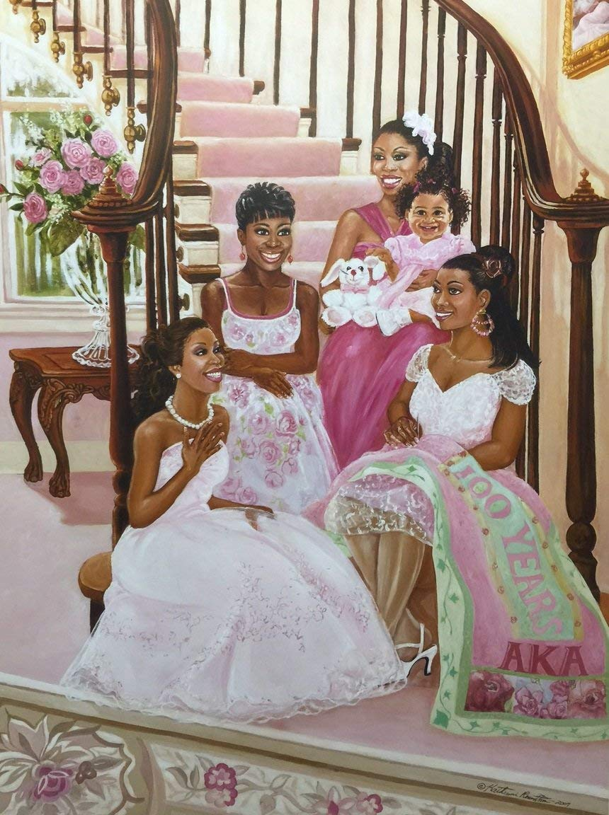 Its-Time-To-Celebrate-Sorority-Aka-Katherine-Roundtree-24x32-Unframed-African-American-Black-Art-Print-Wall-Decor-Poster-9k18 Black Art from Katherine Roundtree We Love