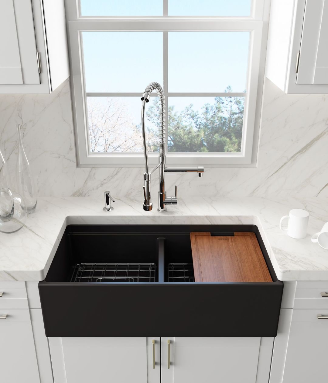 2018-Bocchi-Contempo-36D-Step-Rim Farmhouse Chic - 5 Tips for Picking a Farmhouse Sink