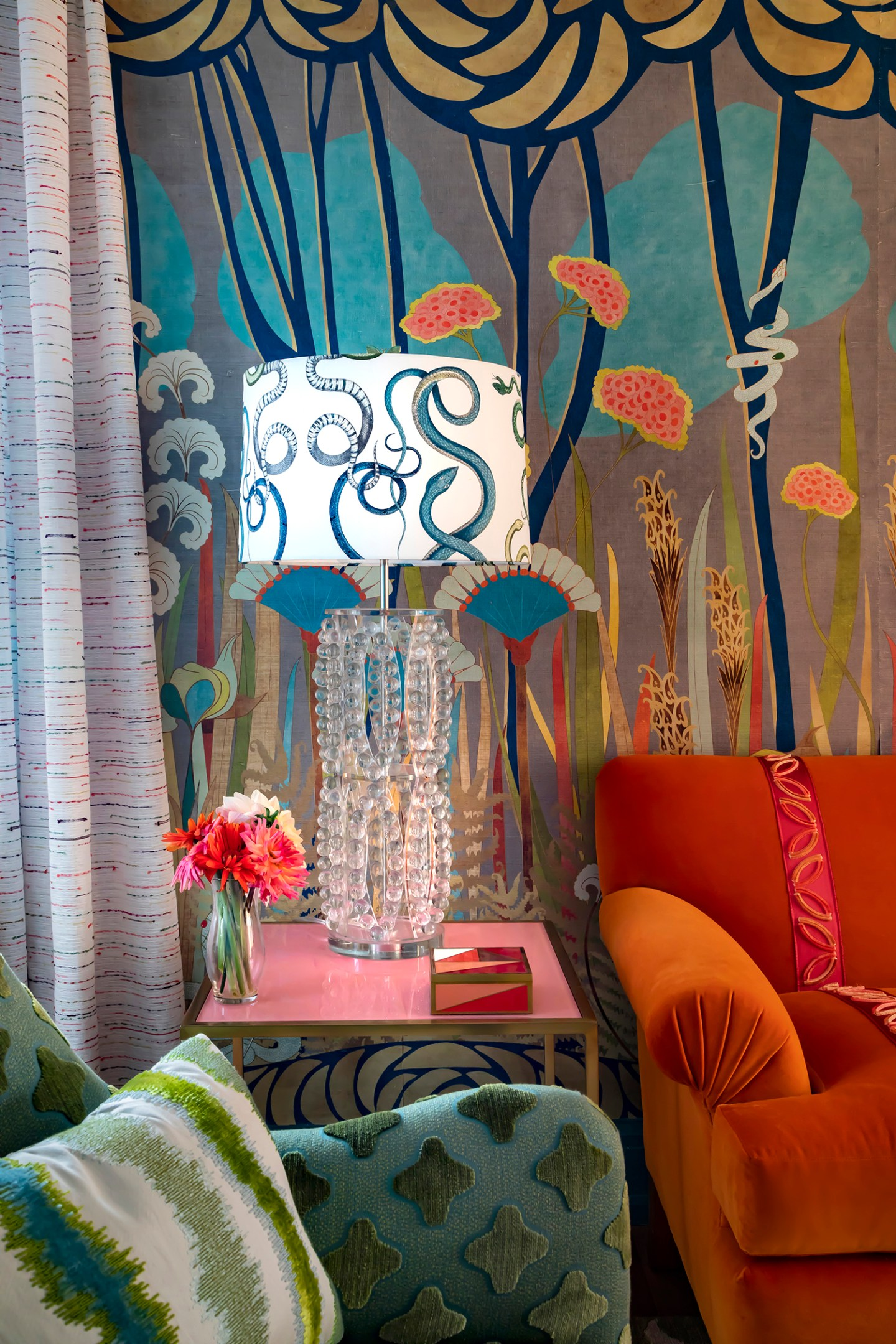 Courtney-McLeod-RMLID-JL-Showhouse_28 Tips for Adding Color and Pattern to a Roomfrom a Louisiana Native