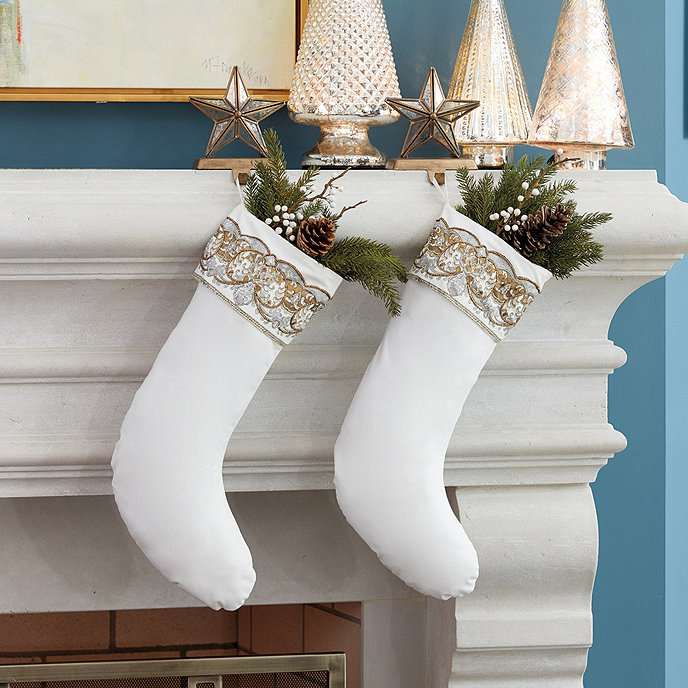 Gold_White_Holiday_Stocking Traditional Holiday Stockings You Must Add to Your Home