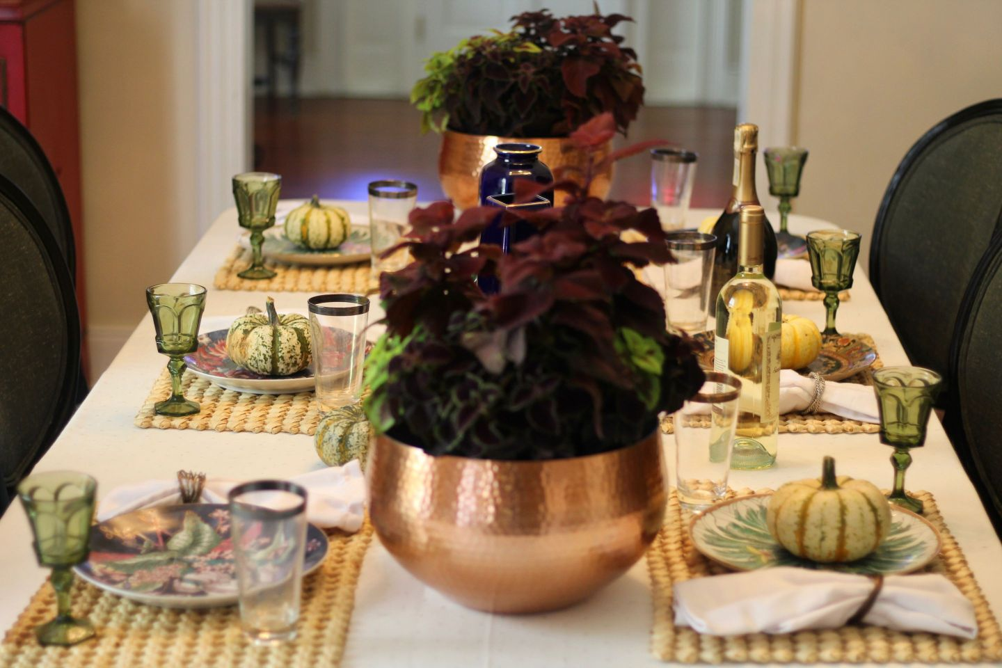 IMG_2510 Pink and Green Tablescape: Preppy Thanksgiving Inspiration