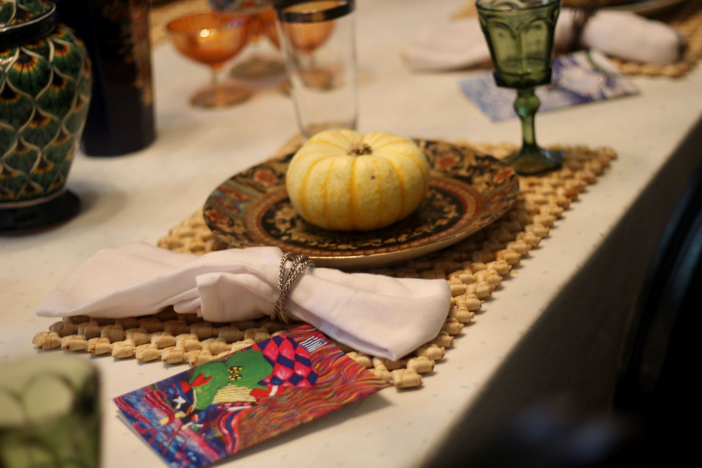 Pink and Green Tablescape: Preppy Thanksgiving Inspiration
