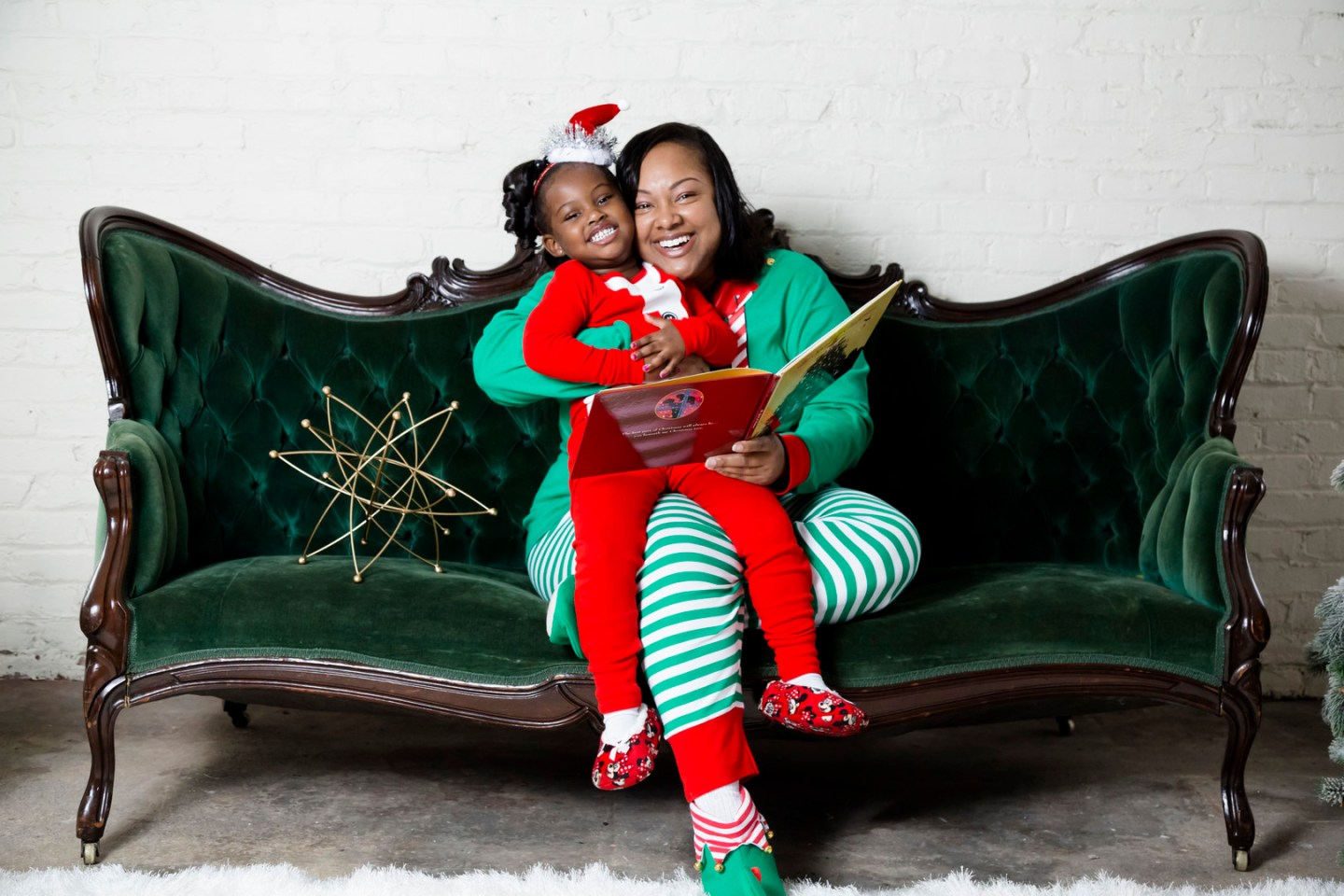 Mommy & Me Christmas PJ Session in Greensboro, NC